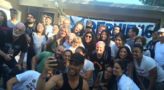 These Hollywood Stars Are Crisscrossing California In An RV For Bernie Sanders