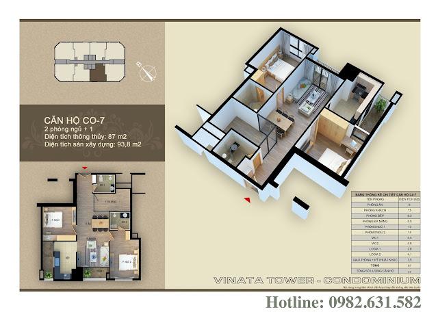 Thiết kế căn hộ chung cư Vinata Tower CO-07