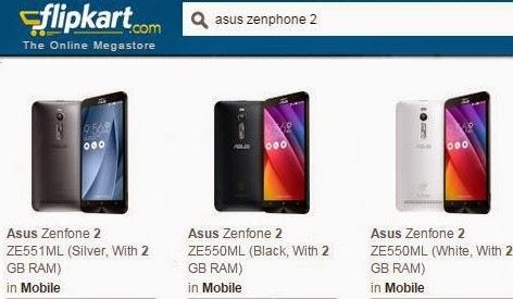 Buy ZenFone 2 from flipkart with discount offers , asus ZenFone 2 launch day offer details,