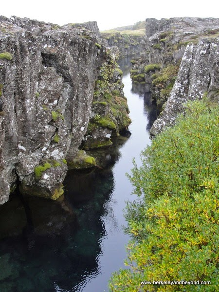 Silfra crack in Thingvellir National Park in Iceland