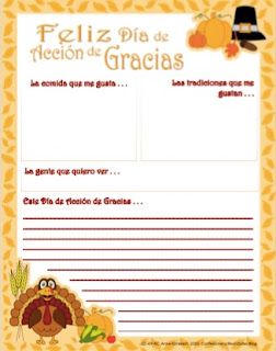 Thanksgiving-Themed Graphic Organizer and Writing Prompt Free by AnneK at Confesiones y Realidades Blog