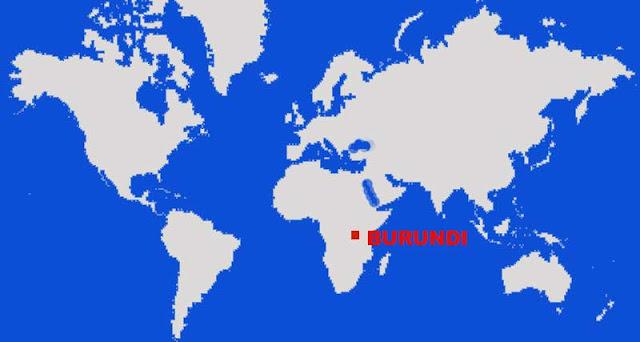 Gambar Peta letak negara Burundi