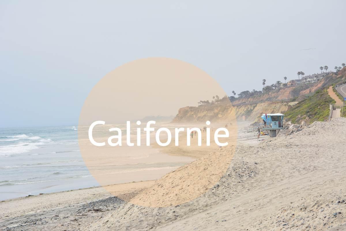 Sur la plage en Californie