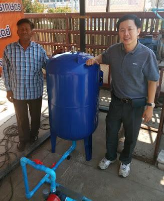 Mr. Pichai owner of Buriram Water Pump Shop