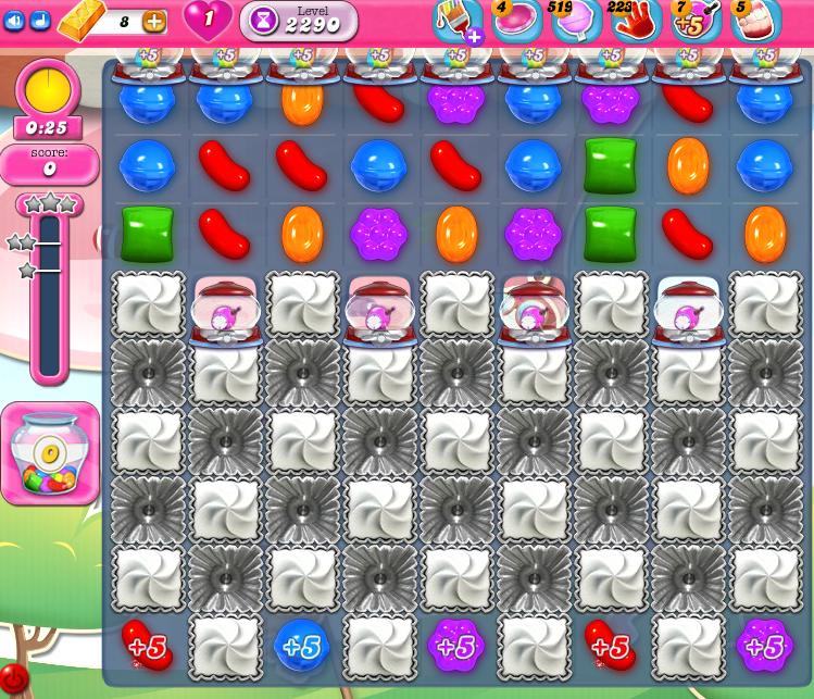 Candy Crush Saga level 2290
