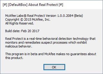 McAfee Real Protect | Supratim Sanyal's Blog