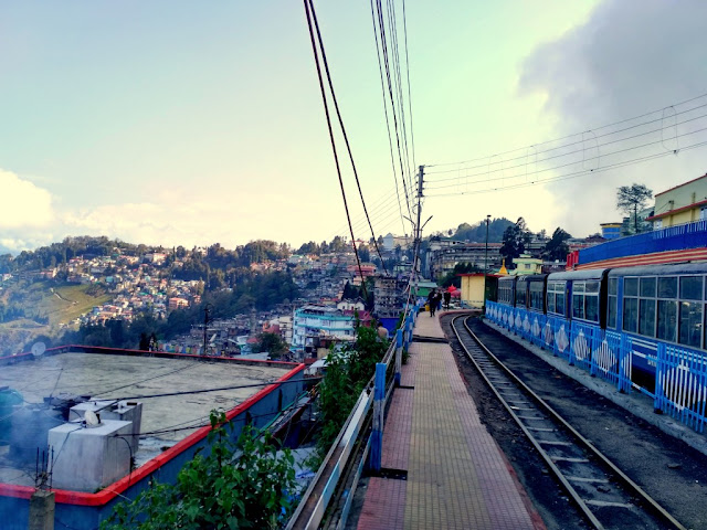 View from Darjeeling Railway Station