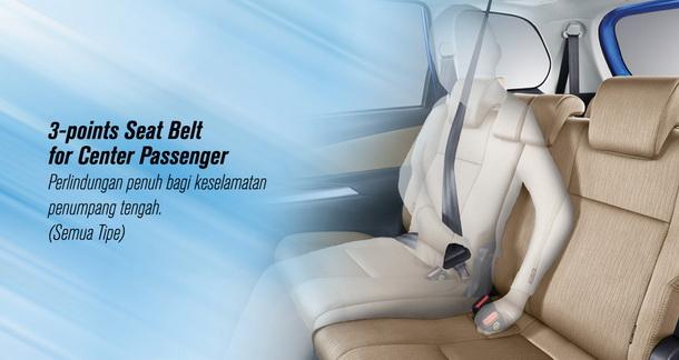 3 Point Seat Belt For Center Passengger Untuk Perlindungan Penuh Bagi Keselamatan Penumpang Tengah