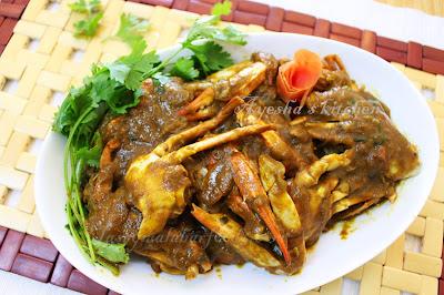 ayeshas kitchen tasty side dish spicy crab roast seafood recipes yummy onion roast side dish recipes