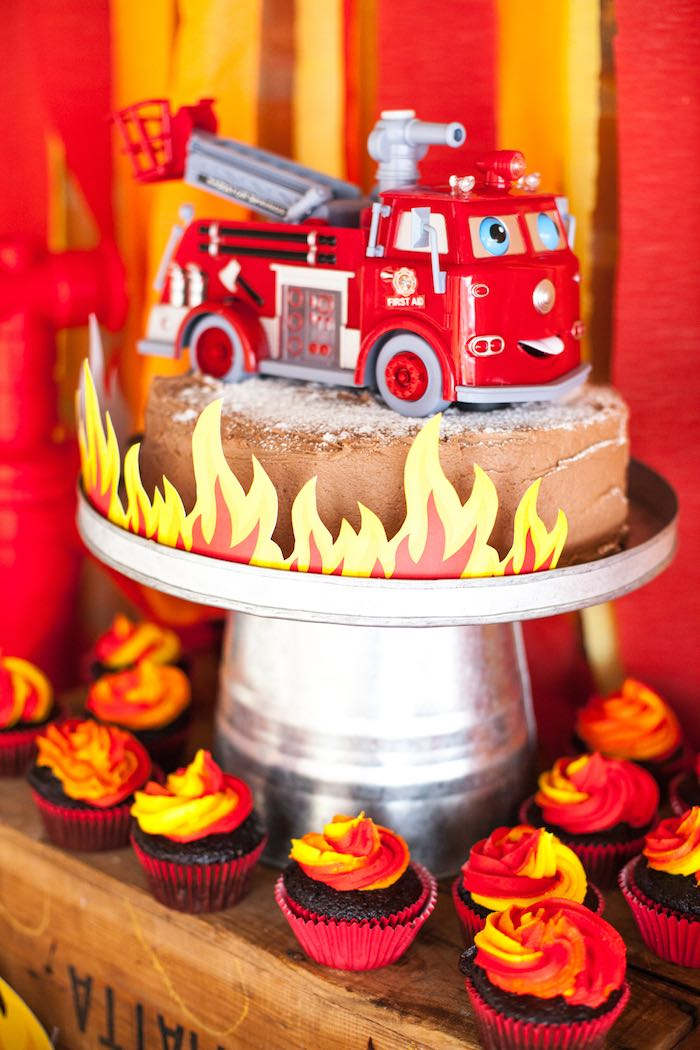 Cake Birthday Firefighter Sheet