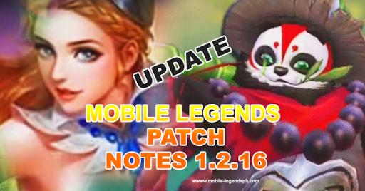 Mobile Legends Patch 1.2.16 notes