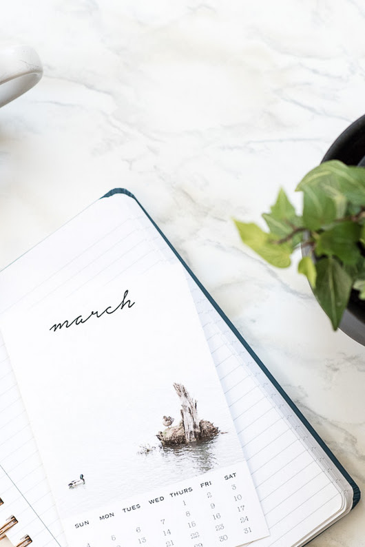 Welcome March | Printable Photo Calendar Card