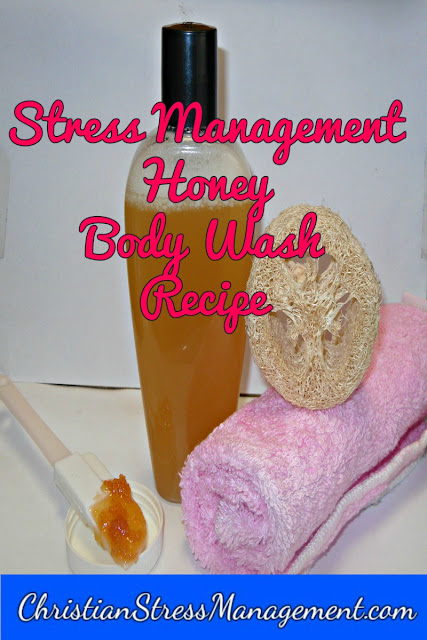 Natural honey body wash recipe for stress management