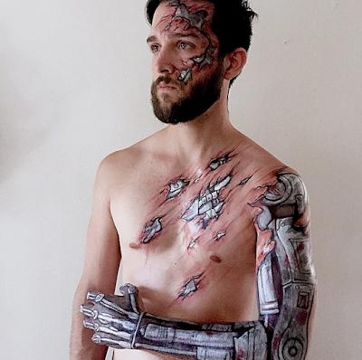 Bodypaint de Terminator.