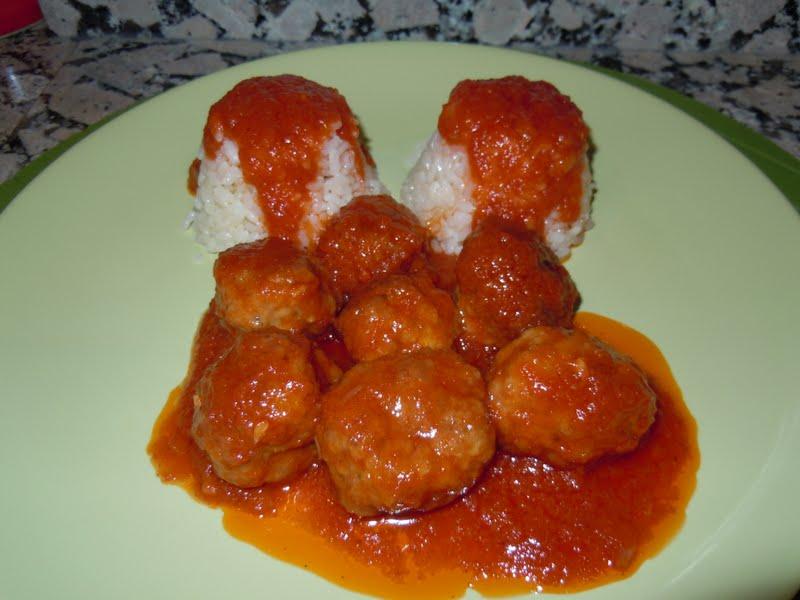 El blog de debora mis recetas del dia a dia alb ndigas - Guarnicion para albondigas ...