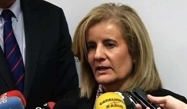 Se pide tranquilidad a los pensionistas  por las pensiones por parte  de la ministra de empleo, Fátima Báñez