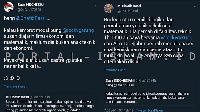 Hendak Jelekkan Rocky Gerung, Pendukung Jokowi Disentil Mantan Menkeu Chatib Basri