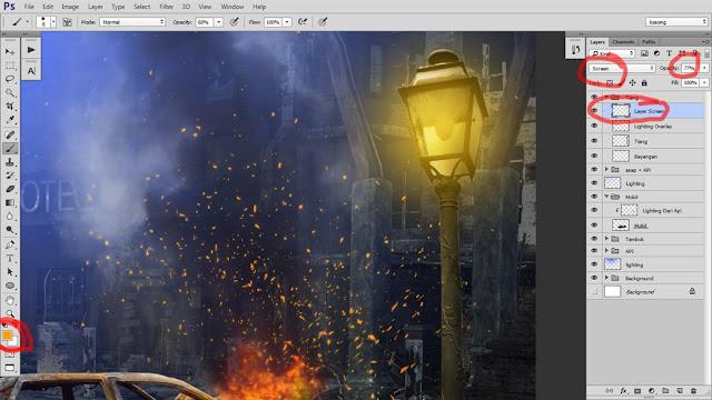 34 Tutorial Photoshop Dramatic Manipulation WAR part 2