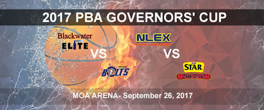 List of PBA Game(s) Tuesday September 26, 2017 @ MOA Arena