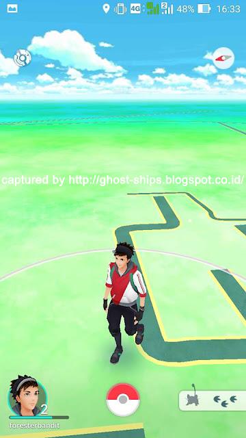 Karakter pemain penangkap Pokemon Go.
