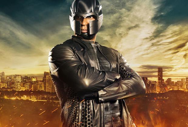 John Diggle bajo la identidad de Spartan en Arrow