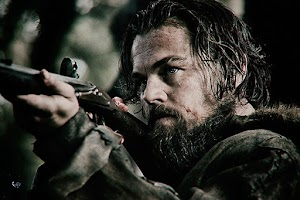 "Leonardo DiCaprio and Tom hardy in the trailer of the movie ""The Revenant"""