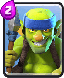 Carta dos Goblins lanceiros do Clash Royale