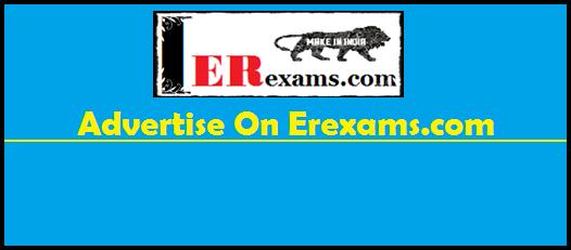 Advertise On Erexams.com