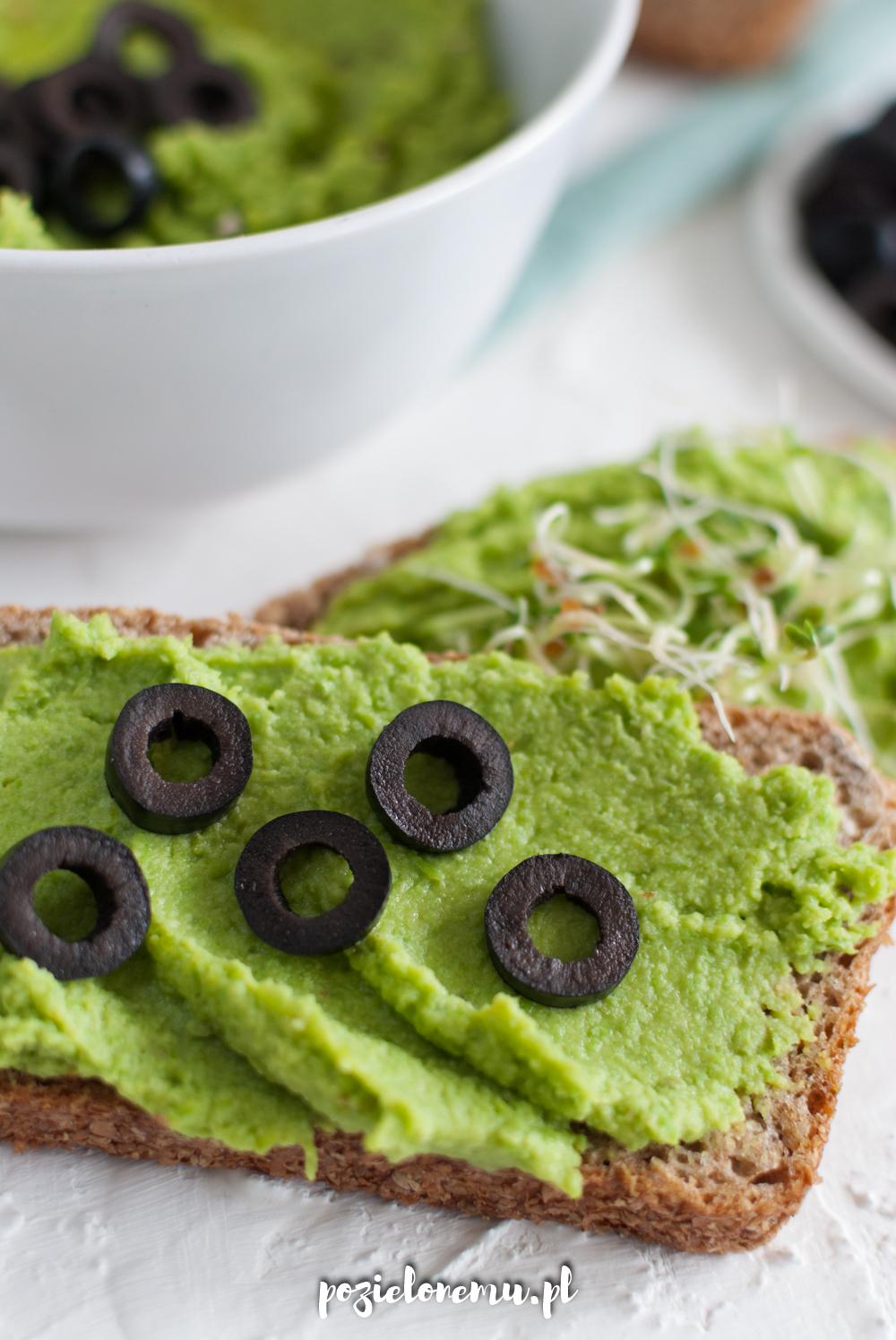 Pasta z zielonego groszku