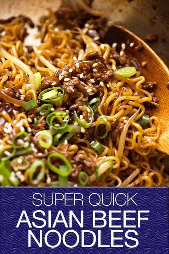 QUICK ASIAN BEEF RAMEN NOODLES