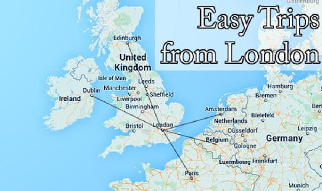 Mapa de viagens na Europa