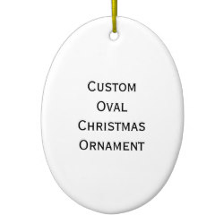 Custom Oval Photo Christmas Ornament
