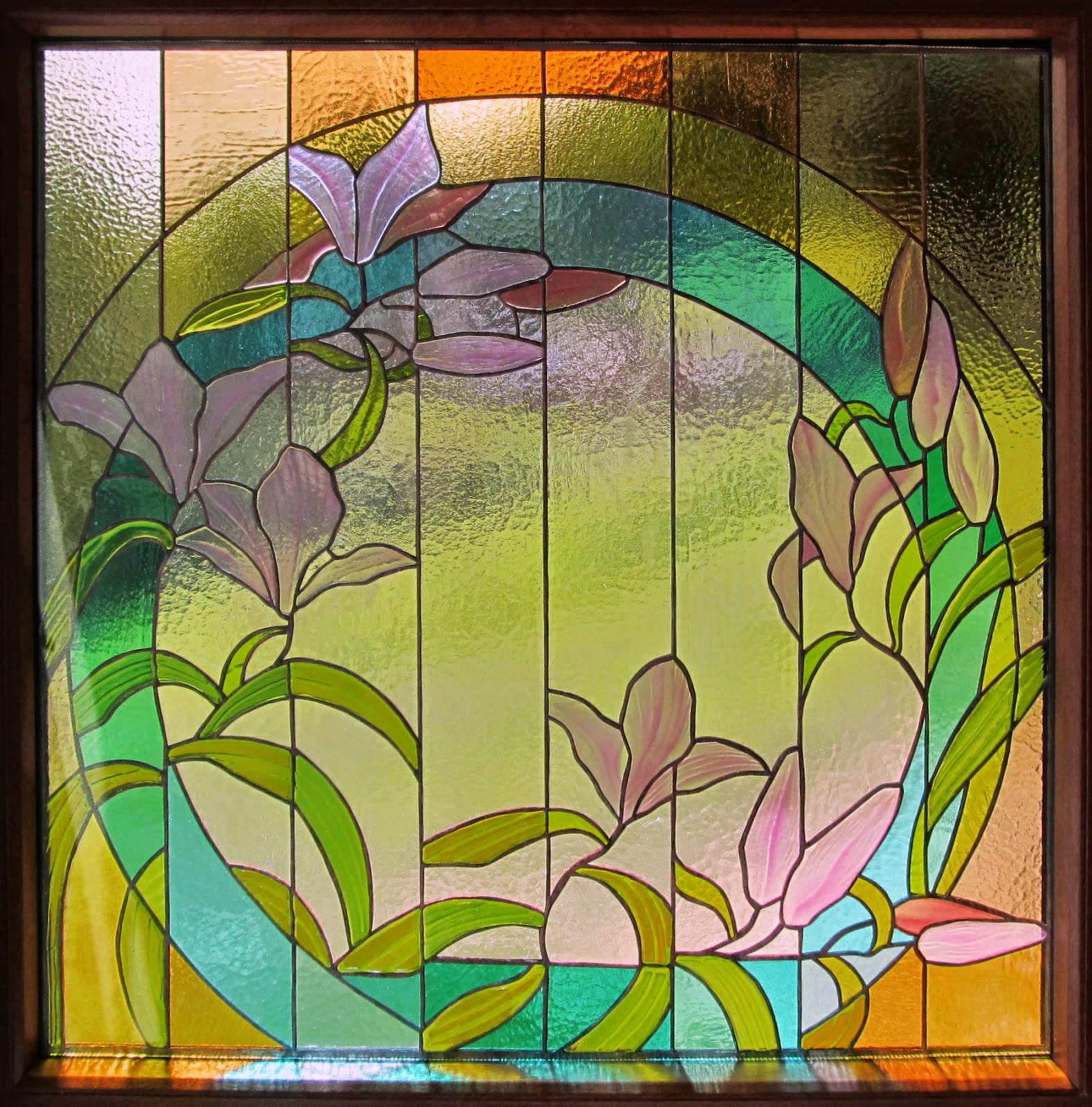 vitrážové květy
