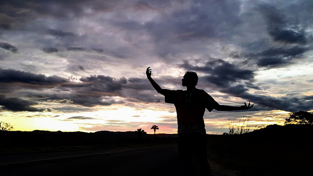 Pôr-do-sol na Chapada dos Veadeiros.