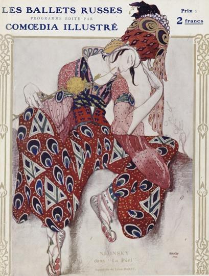 Pittura e scultura - Pagina 3 Bakst-Nijinsy-dans-La-P%25C3%25A9ri-1911