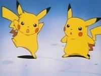 Pikachu de Richie y de Ash
