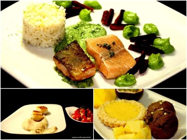 Silvester Menü mit Fisch