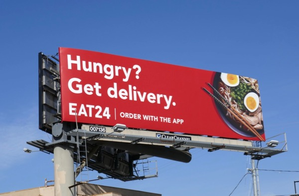 Hungry Get delivery Eat24 billboard