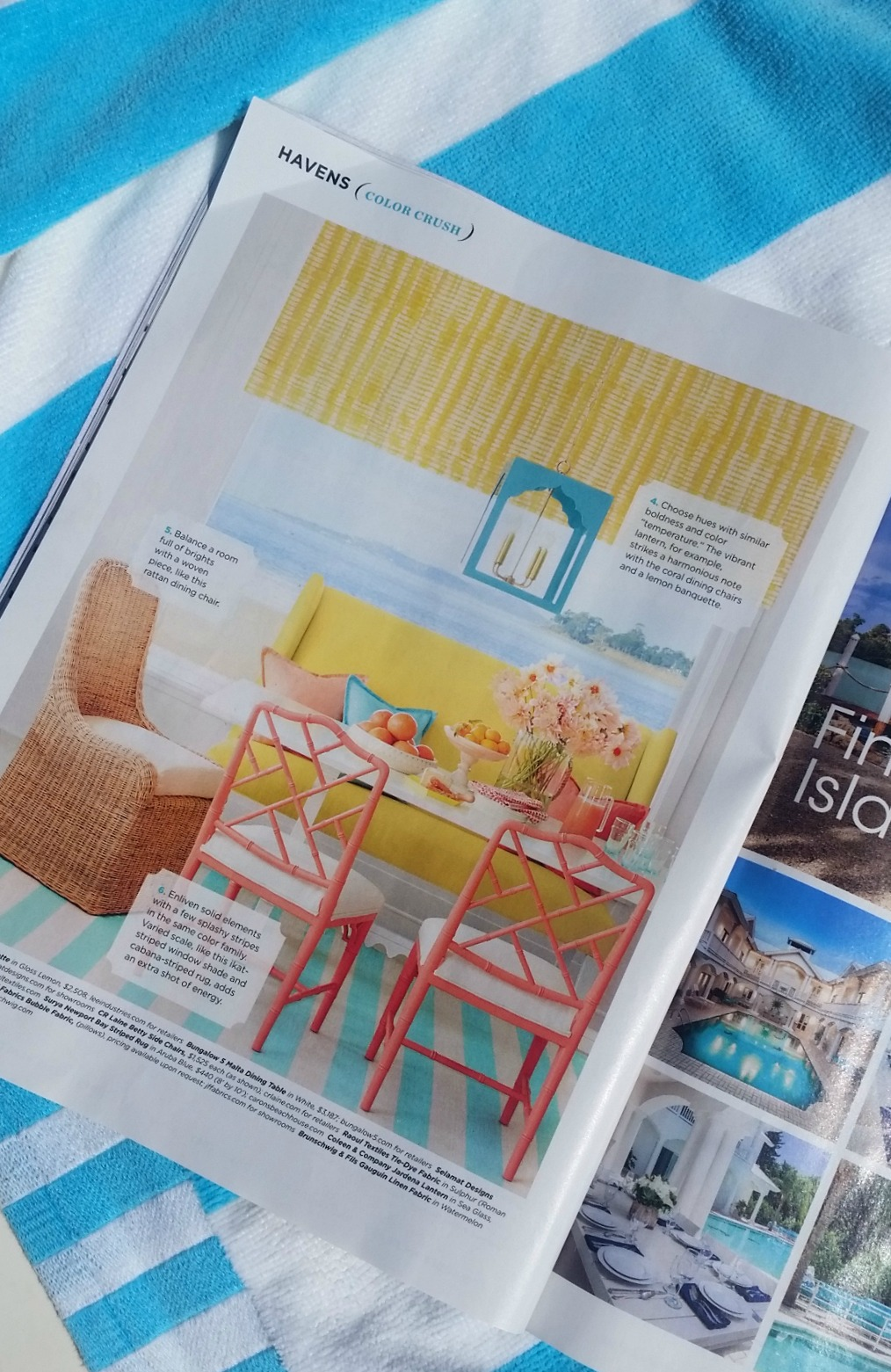 everything coastal our aruba blue striped rug is featured in