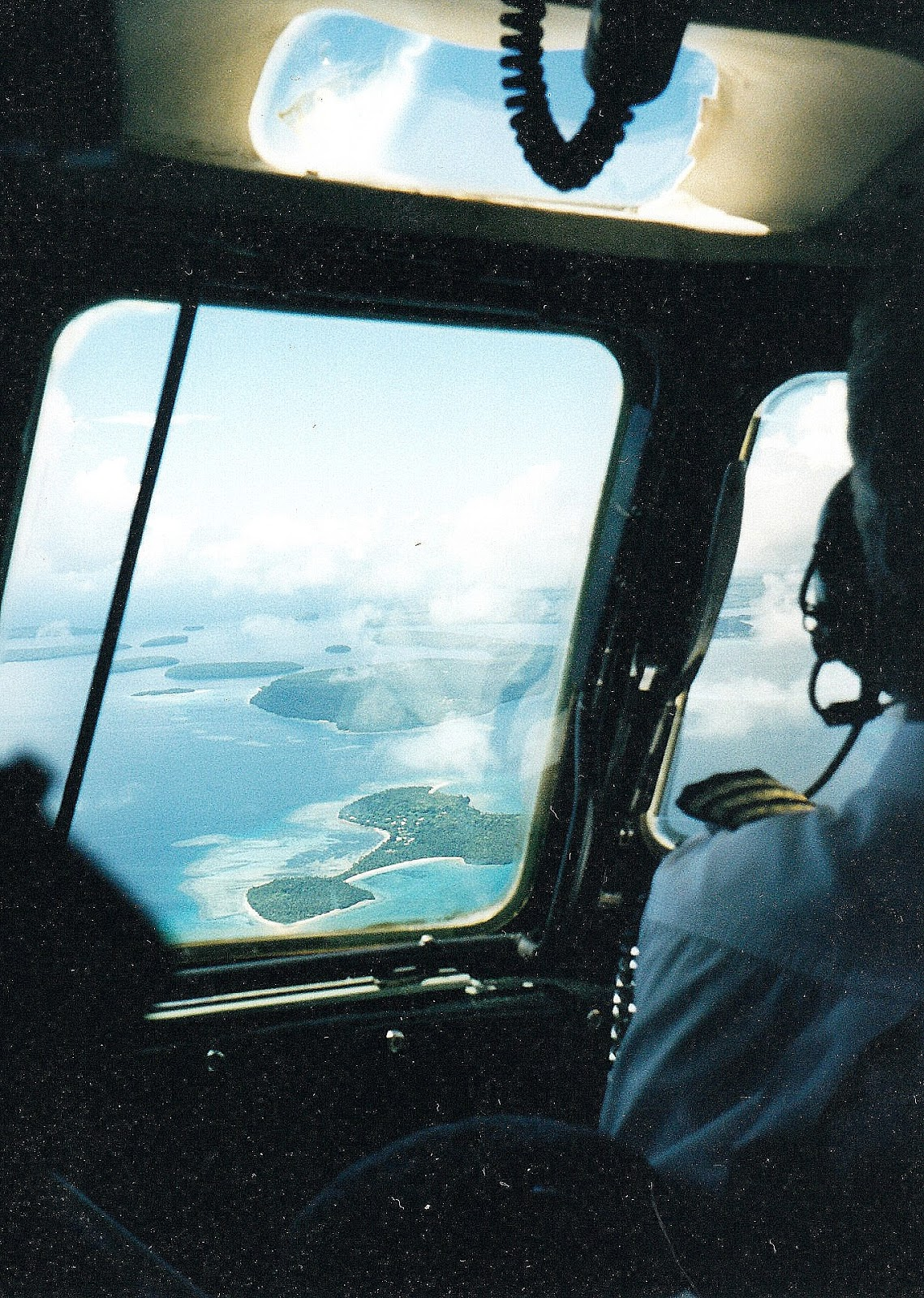 Tonga from the air is a beautiful archipelago of islands