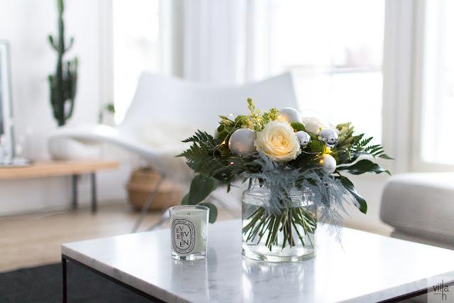 jouluinen kukkakimppu, interior, design, sisustus