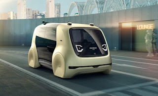 Illustration of VW autonomous car