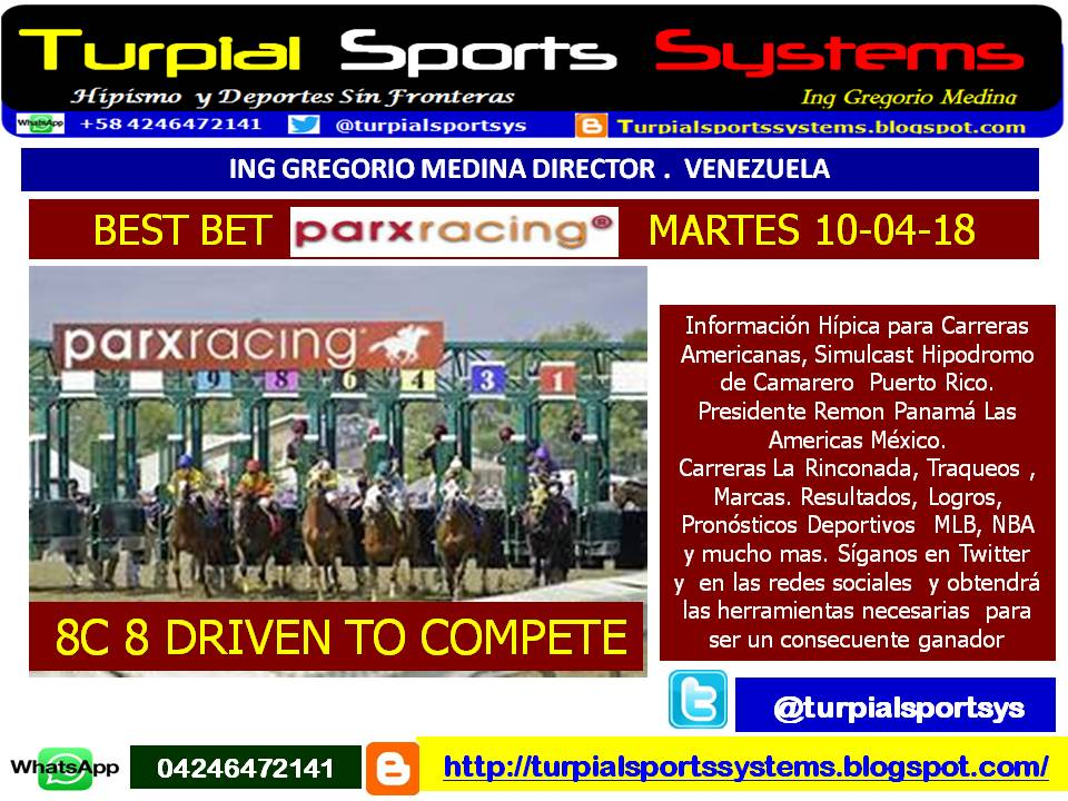 TURPIAL SPORTS SYSTEMS : BEST BET PARX RACING MARTES 10-04-18