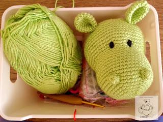Hipopotam zielony - amigurumi
