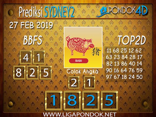 Prediksi Togel SYDNEY2 PONDOK4D 27 FEBRUARI 2019