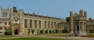 The Great Court at Trinity College, Cambridge.