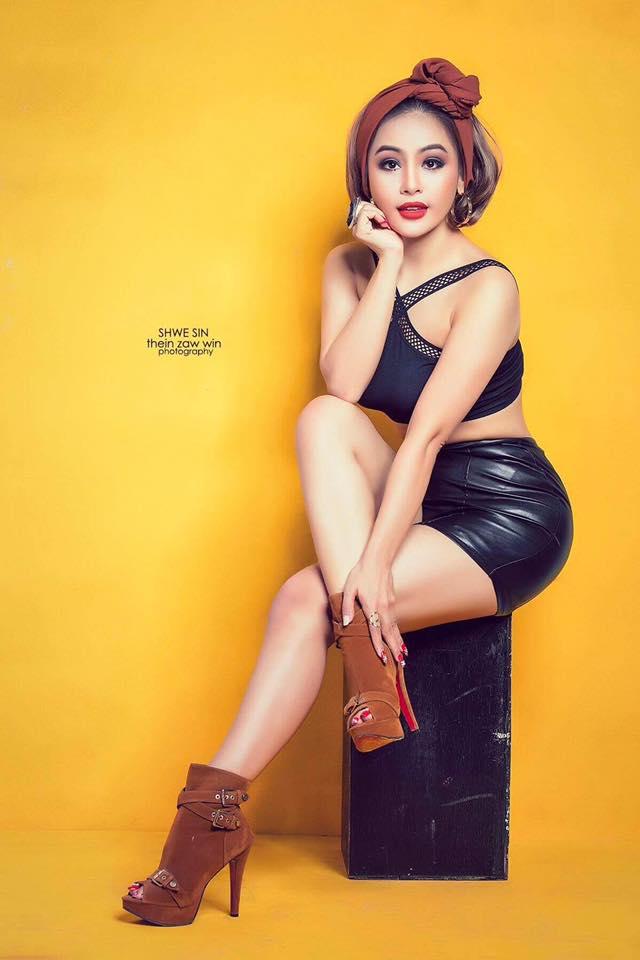 Shwe Sin Black Fashion Studio Photoshoot