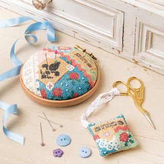 Embroidery Hoop Pincushion Scissor Fob for The World of Cross Stitching Magazine