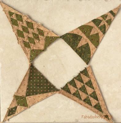 Dear Jane Quilt - Draw 36 - Border Triangles TR5, TR9, BR5, BR9