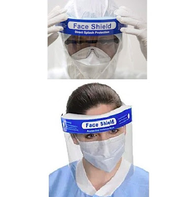 Anti-Splash Face Shields - Eyes, Nose and Mouth Protective Guard - Protection Against Saliva Splash, Droplets and Dust - Personal Care